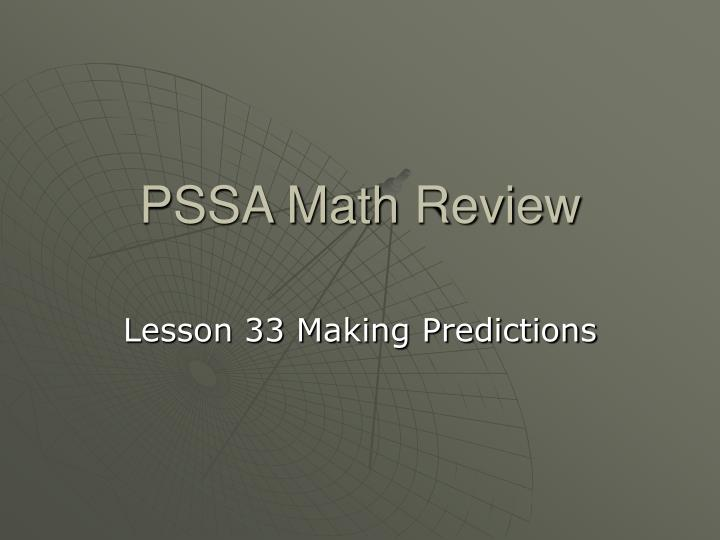 pssa math review n.