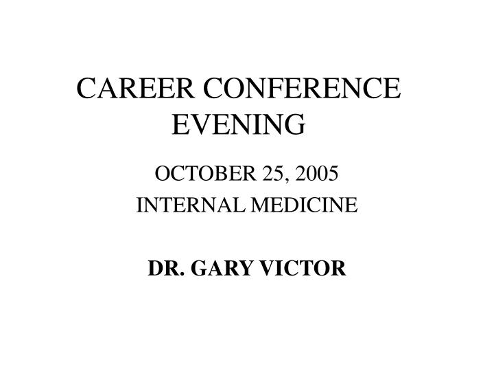 career conference evening n.