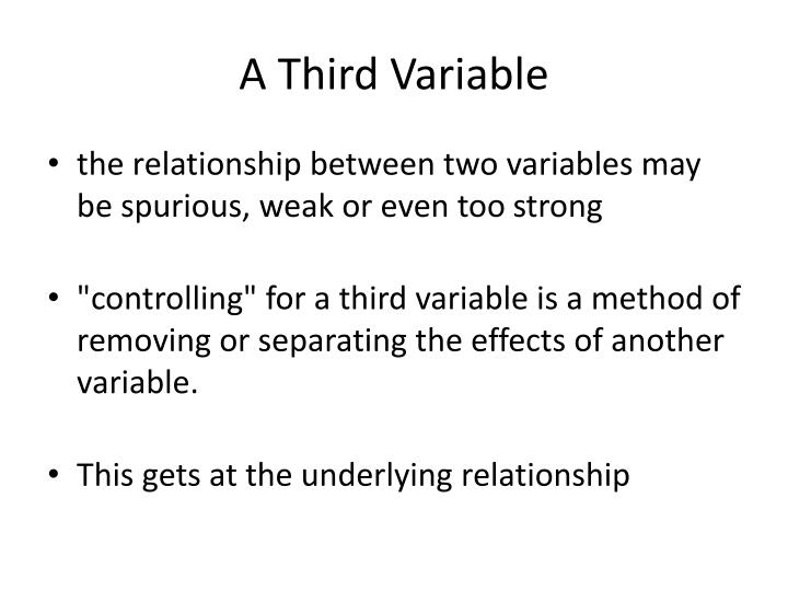 A Third Variable