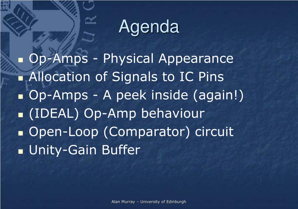 PPT - Operational Amplifiers - Introduction PowerPoint
