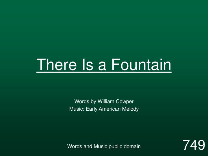 there is a fountain n.