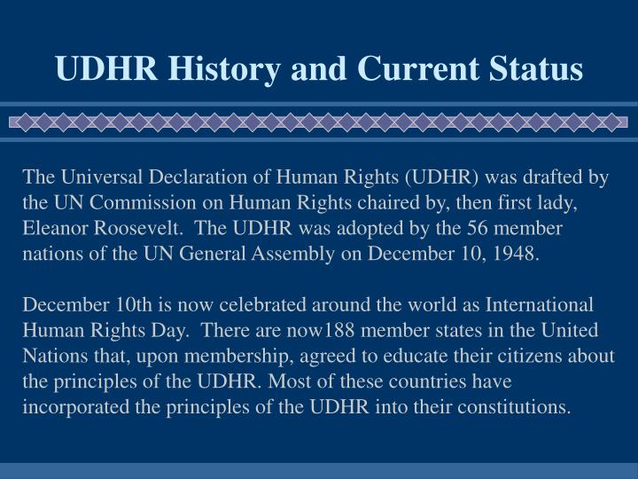 UDHR History and Current Status