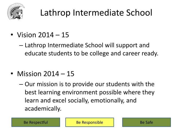 Lathrop intermediate school1