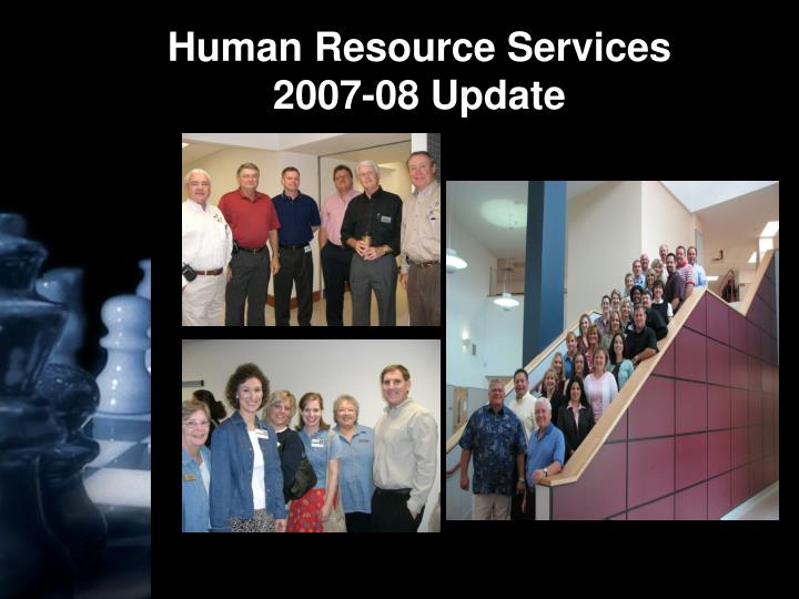 human resource services 2007 08 update n.