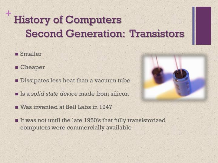 Second Generation:  Transistors