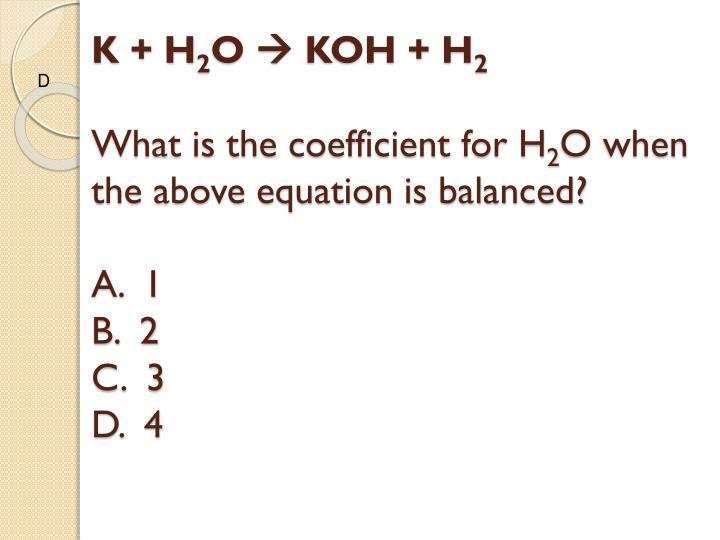 K + H