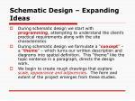 schematic design expanding ideas