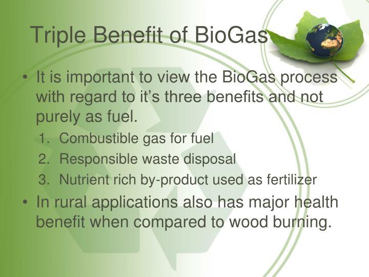 Triple Benefit of BioGas