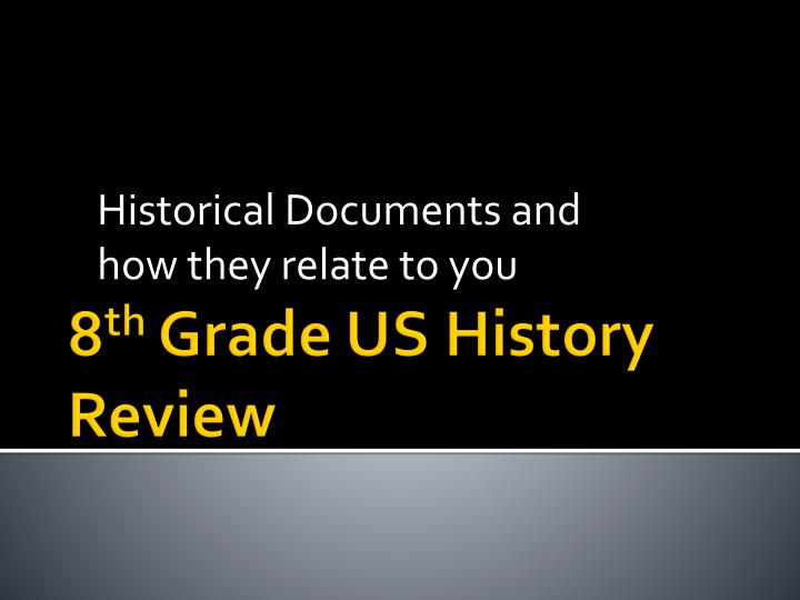 historical documents and how they relate to you n.