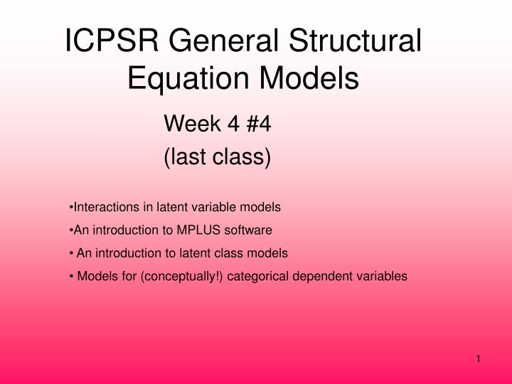 icpsr general structural equation models n.