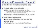 common presentation errors 1