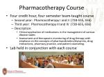 pharmacotherapy course