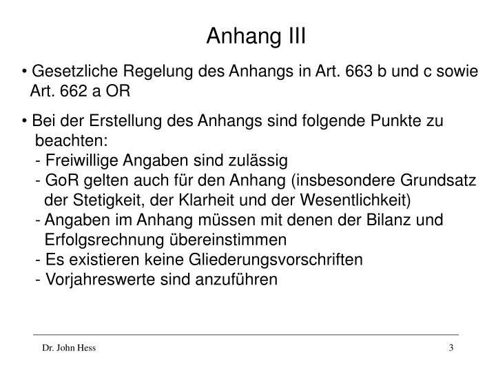 Anhang iii