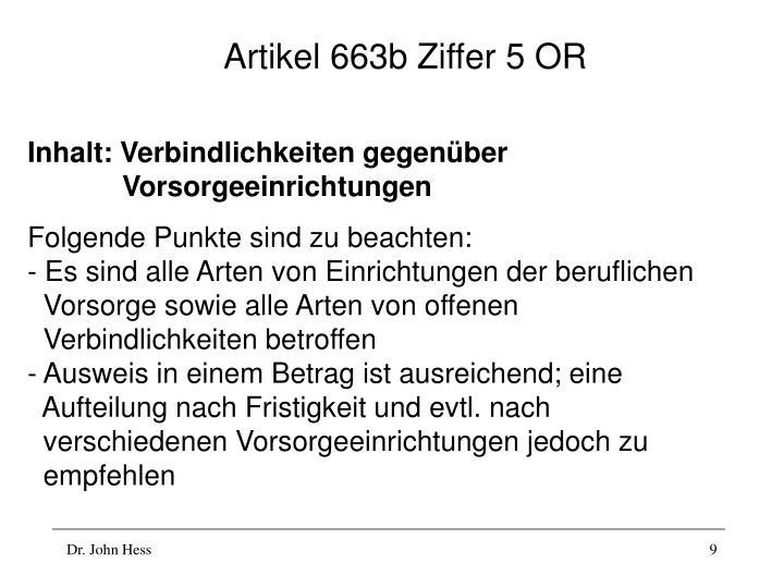 Artikel 663b Ziffer 5 OR