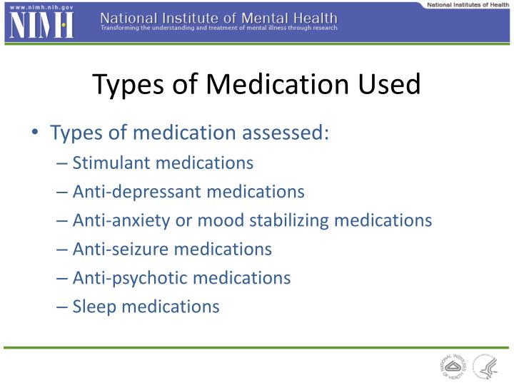 Types of Medication Used