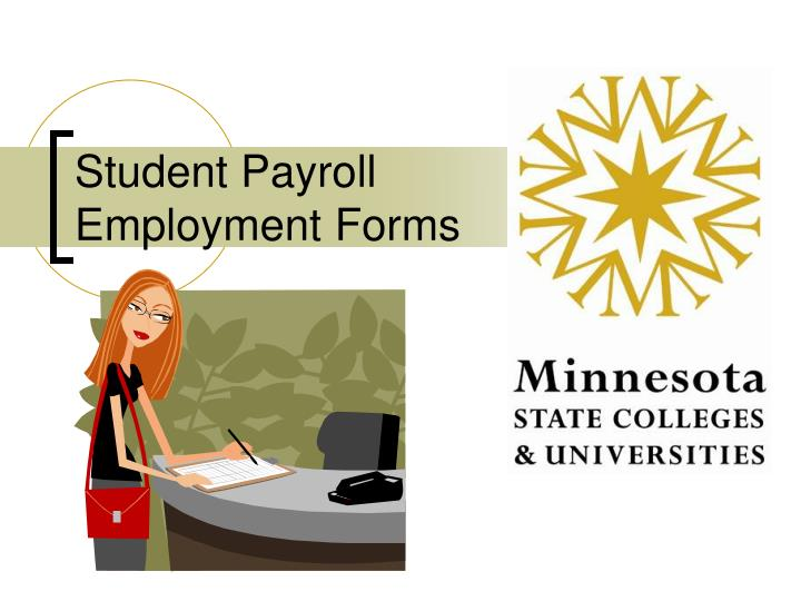 student payroll employment forms n.