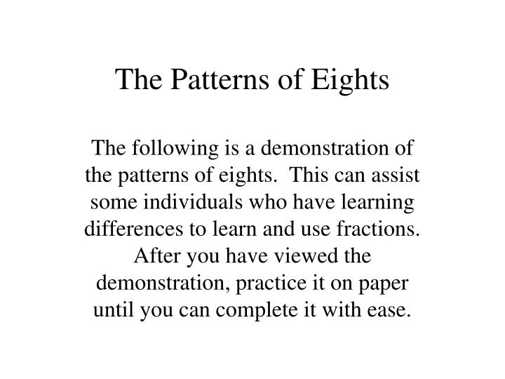 the patterns of eights n.