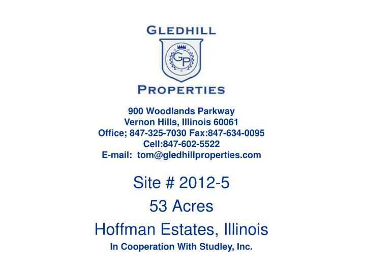 site 2012 5 53 acres hoffman estates illinois in cooperation with studley inc n.