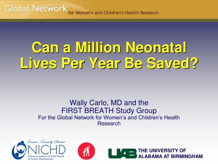 can a million neonatal lives per year be saved n.
