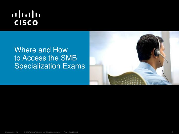 where and h ow to access the smb specialization exams n.