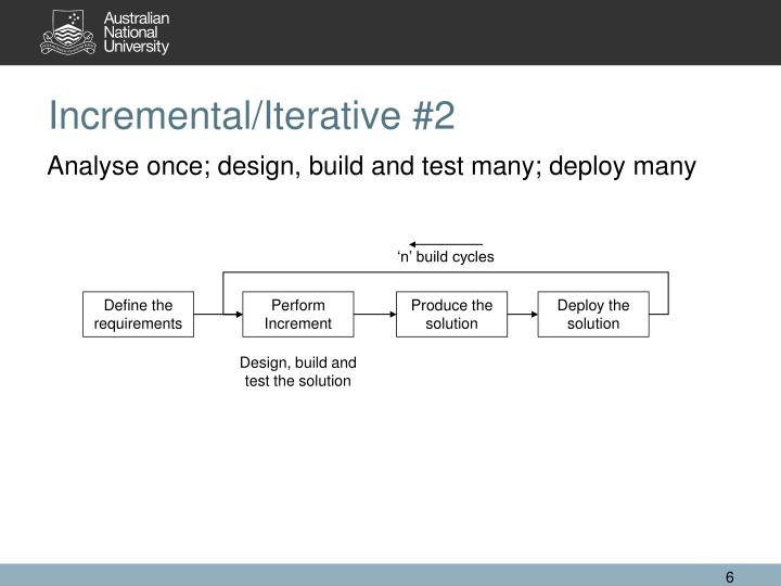 Incremental/Iterative #2