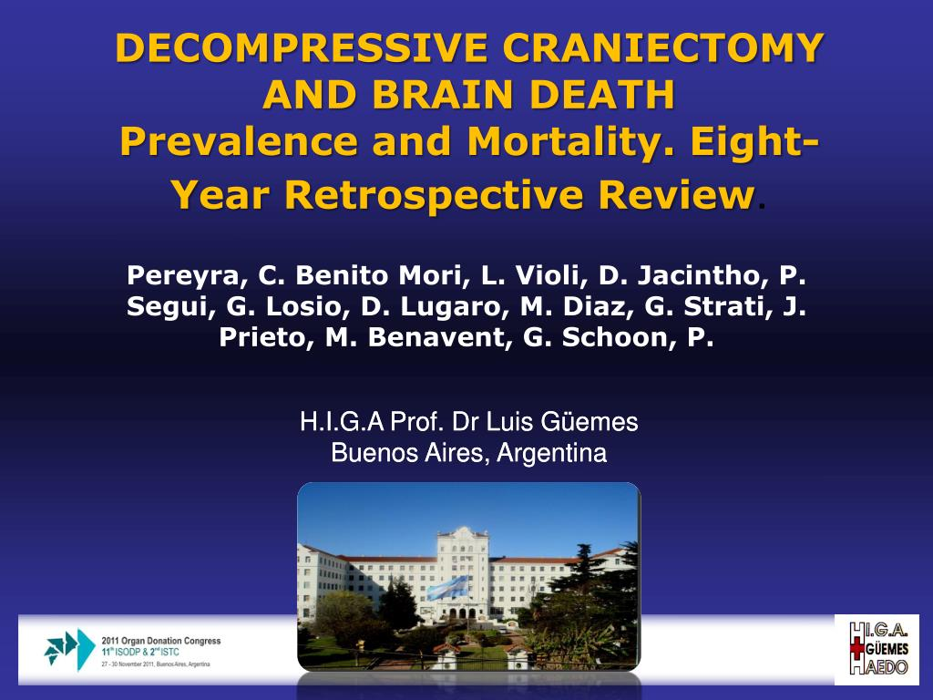 ppt decompressive craniectomy and brain death powerpoint