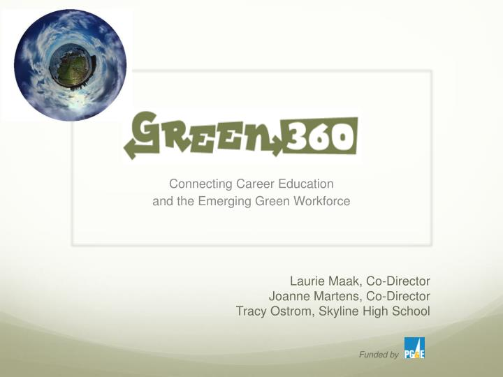 connecting career education and the emerging green workforce n.
