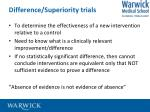 difference superiority trials