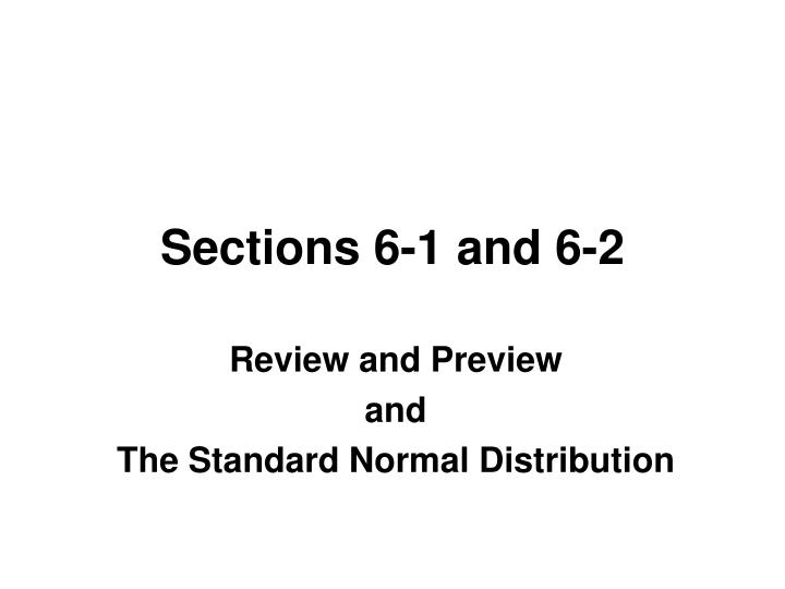 sections 6 1 and 6 2 n.