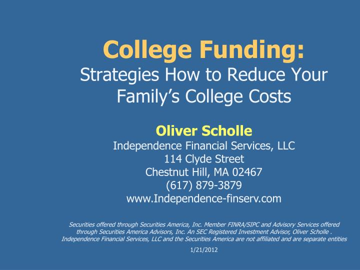 college funding strategies how to reduce your family s college costs n.