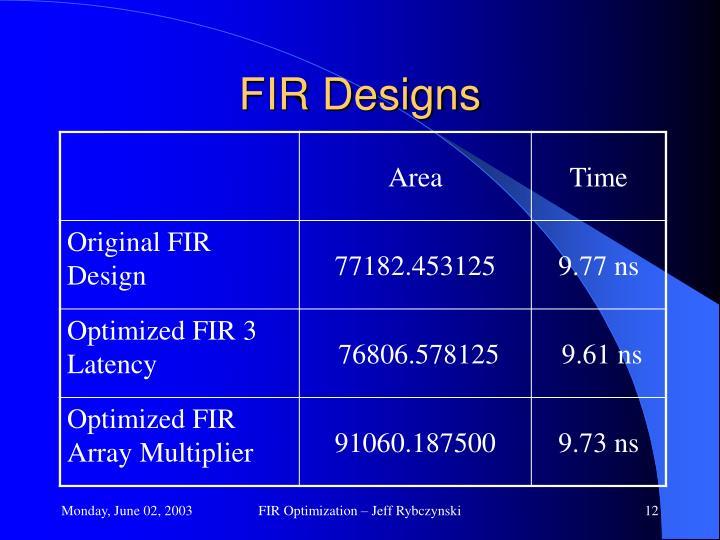 FIR Designs
