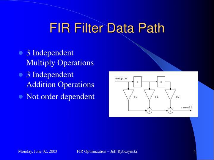 FIR Filter Data Path