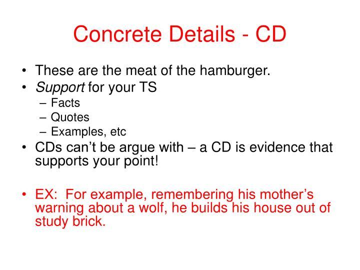 Concrete details cd