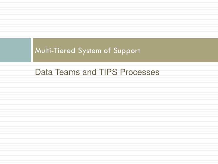 multi tiered system of support n.