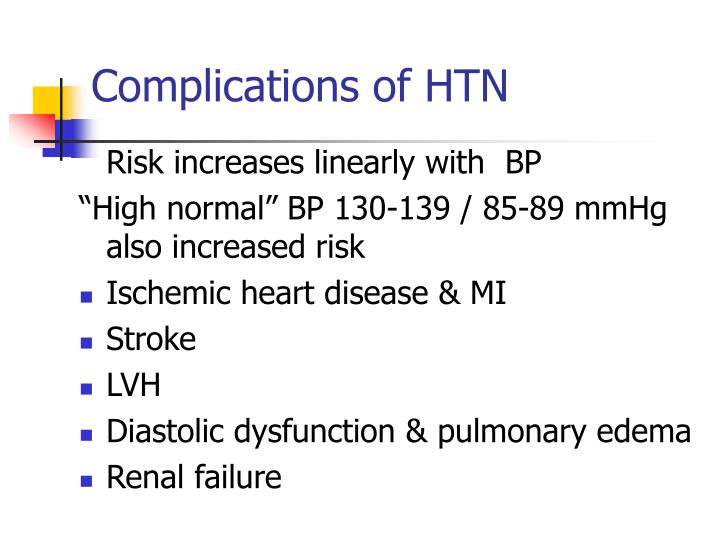 Complications of HTN