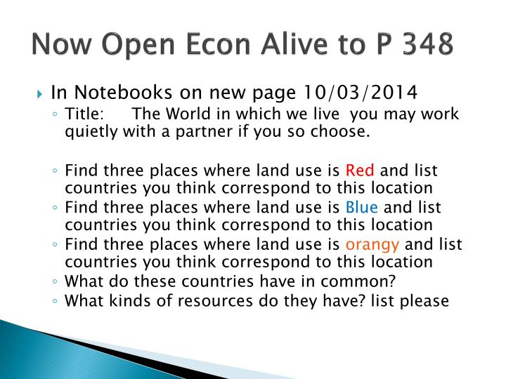 Now Open Econ Alive to P 348