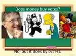 does money buy votes