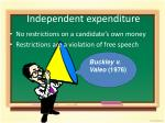 independent expenditure