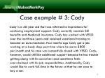case example 3 cody
