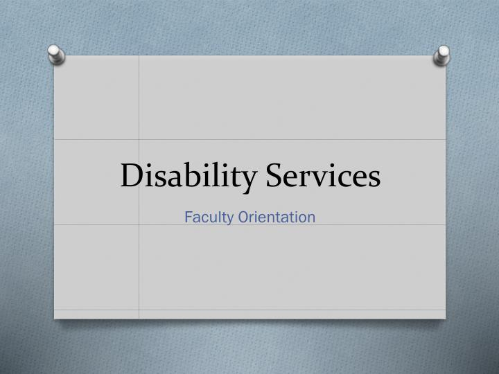 disability services n.