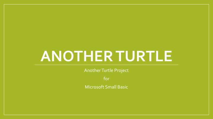 another turtle n.