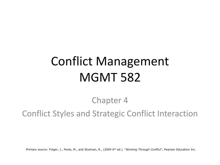 conflict management mgmt 582 n.