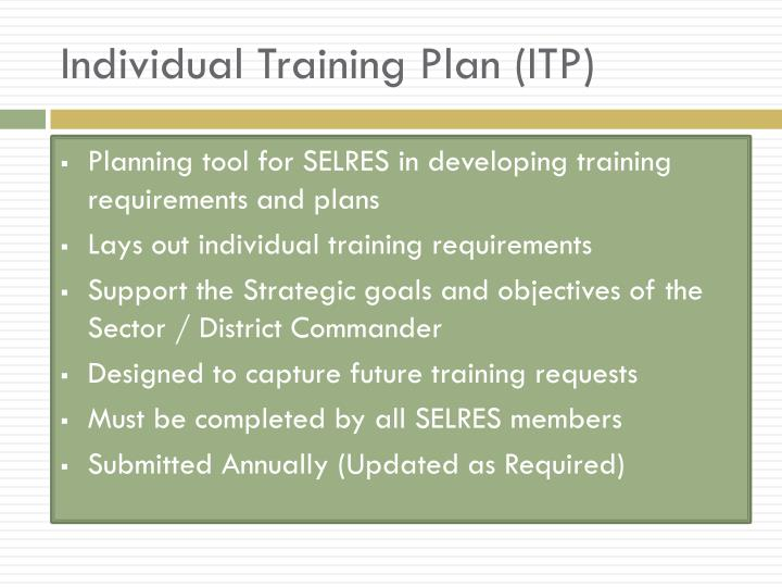 Individual Training Plan (ITP)
