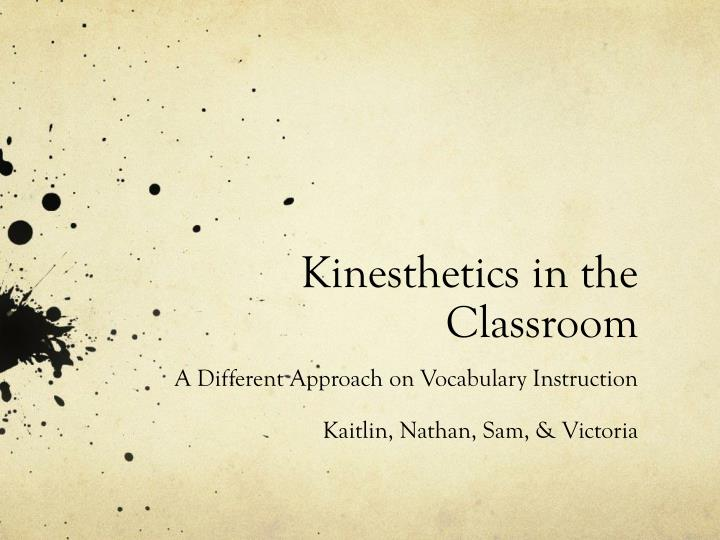 kinesthetics in the classroom n.