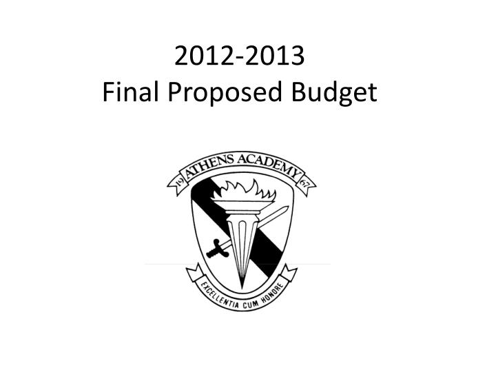 2012 2013 final proposed budget n.
