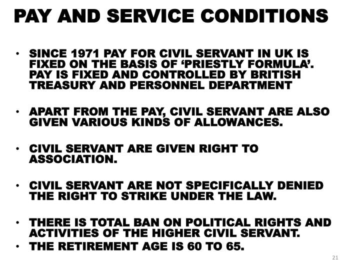PAY AND SERVICE CONDITIONS