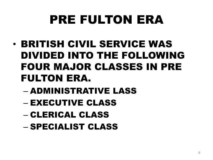 PRE FULTON ERA