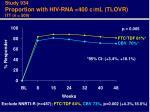 study 934 proportion with hiv rna 400 c ml tlovr itt n 509