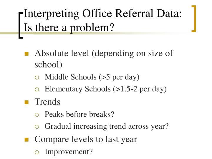 Interpreting Office Referral Data: