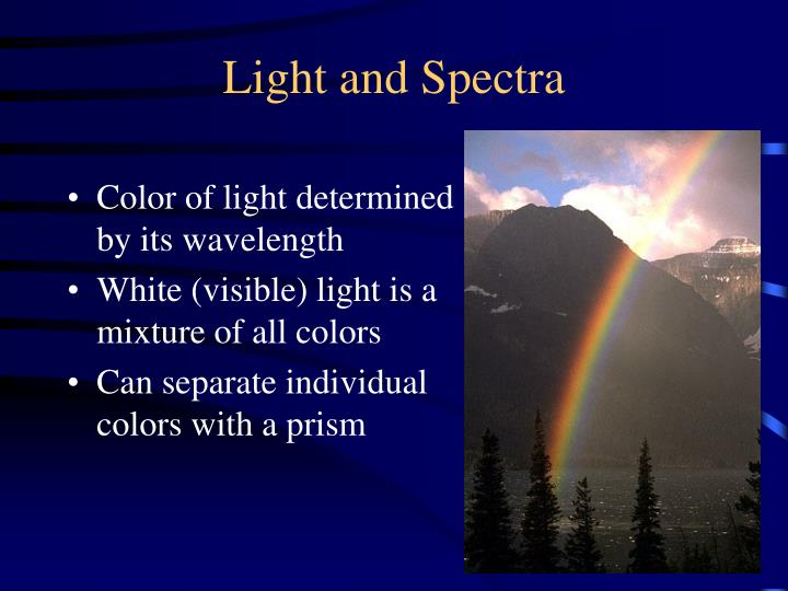 Light and Spectra